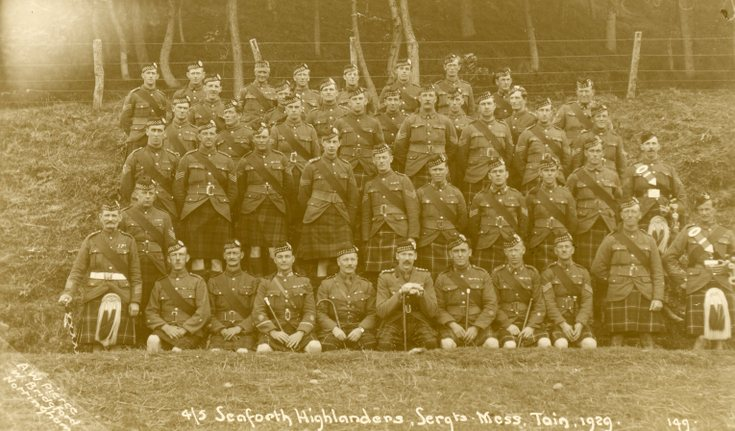 4/5th Seaforth Highlanders  Sergeants Mess Tain
