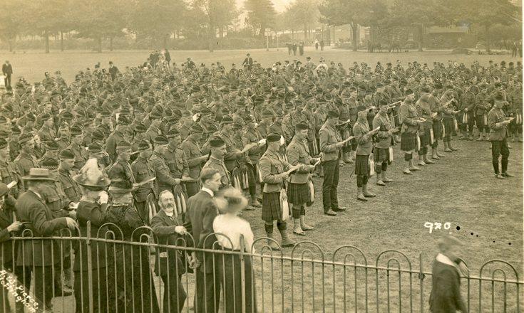 Seaforth Highlanders Drum Head Service