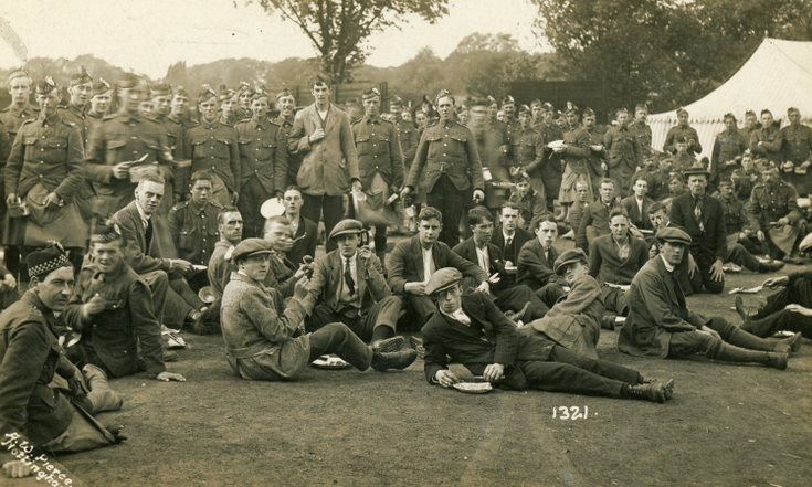 Seaforth Highlanders at summer camp