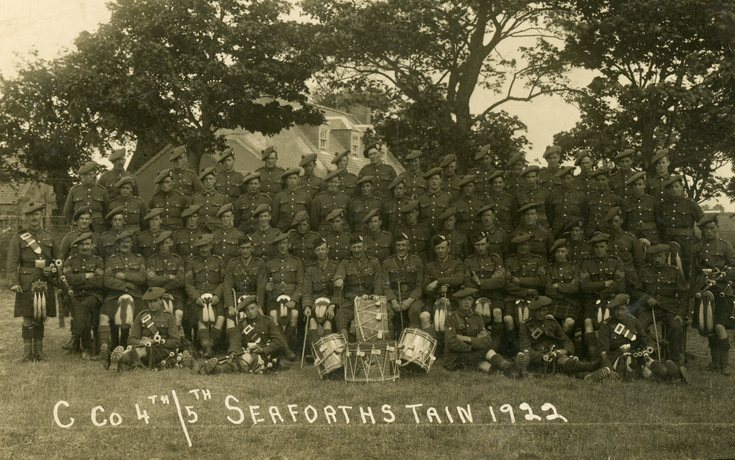 C Company 4th/5th Seaforth Highlanders 1922
