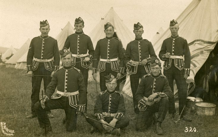 4th/5th Seaforth Highlanders in dress uniform