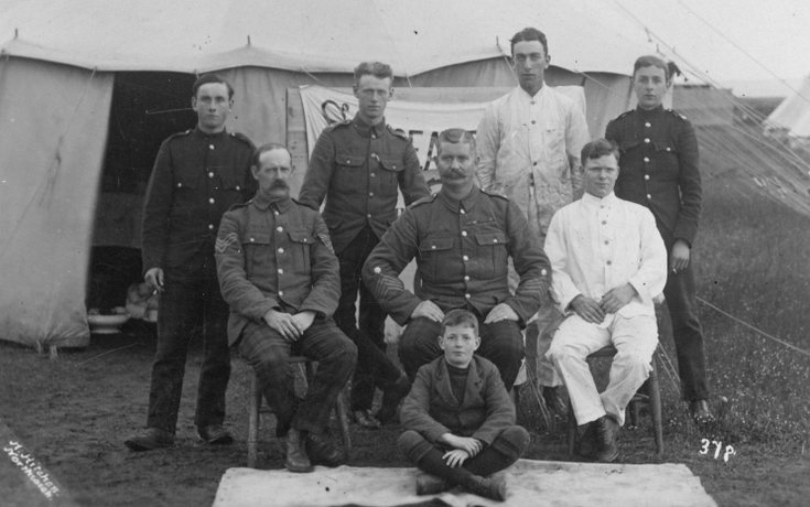 Staff of the Sergeants' Mess 4th/5th Seaforth