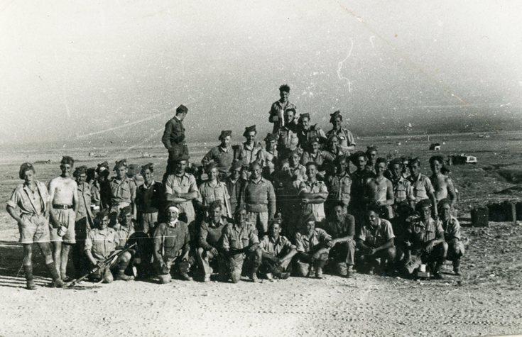 Informal military group photograph