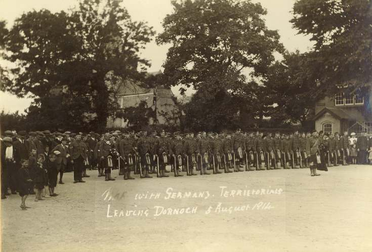 Territorials leaving Dornoch 5/8/1914