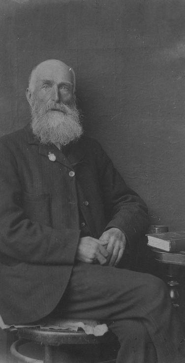 Negative studio photograph of bearded gentleman