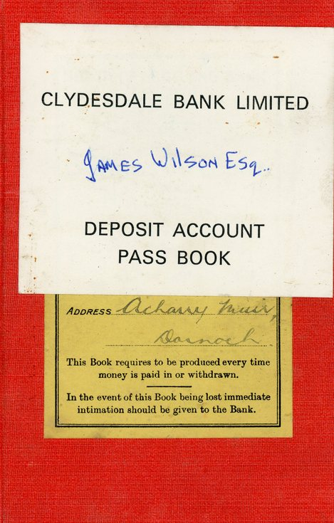 Clydesdale Bank Limited Deposit Account Pass Pook