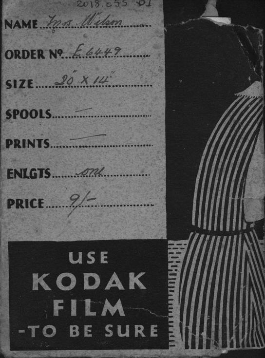 Kodak photograph wallet with 2 photographs