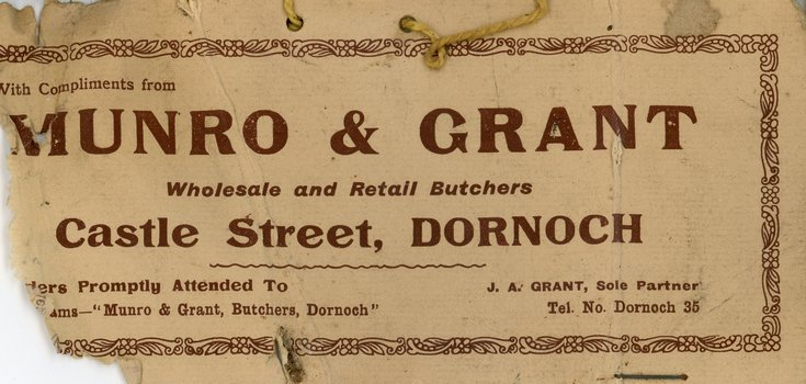 Munro and Grant label