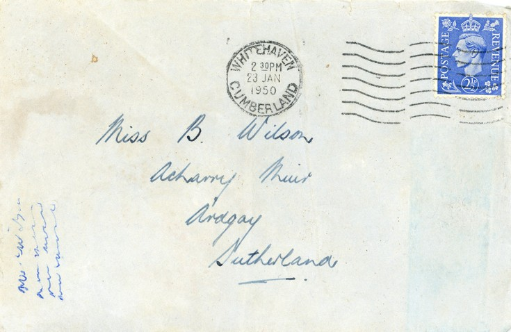 Bundle of letters from and to Bessie Wilson