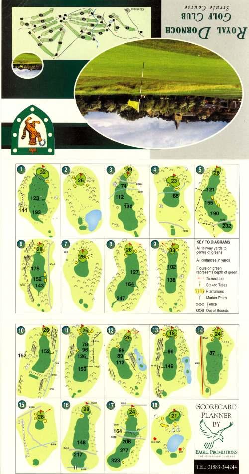 Royal Dornoch Golf Club score card