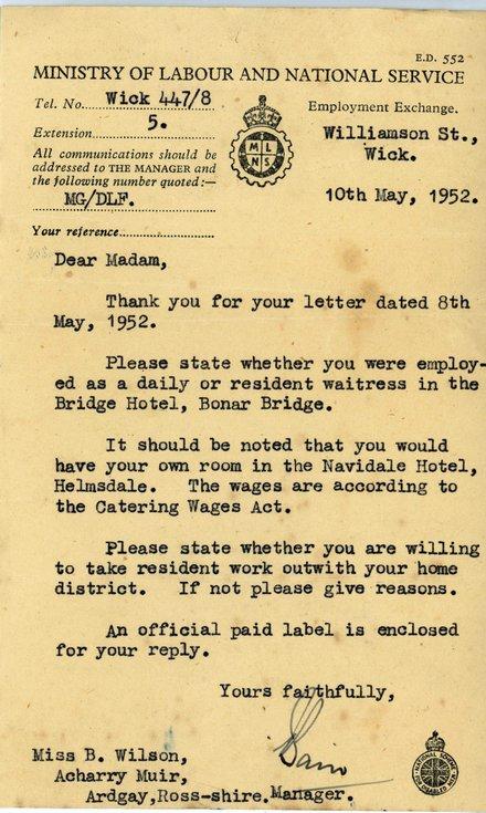 Official correspondence 1946 -
