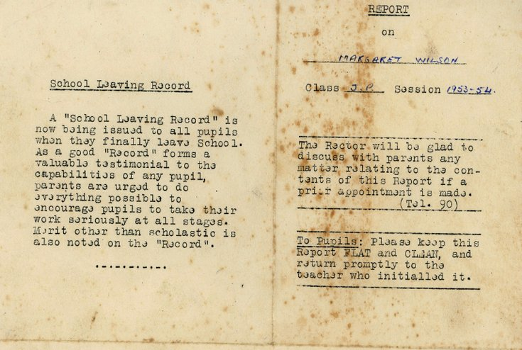 Miscellaneous Wilson family documents c. 1953
