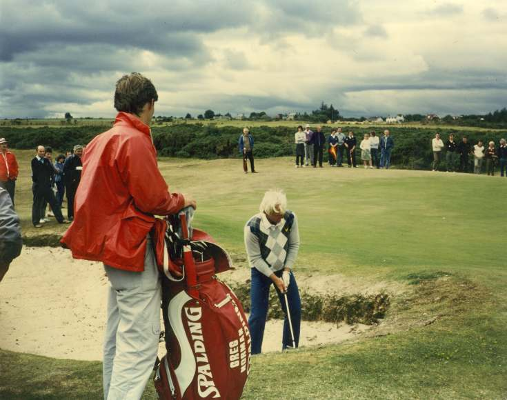 Greg Norman playing at Dornoch