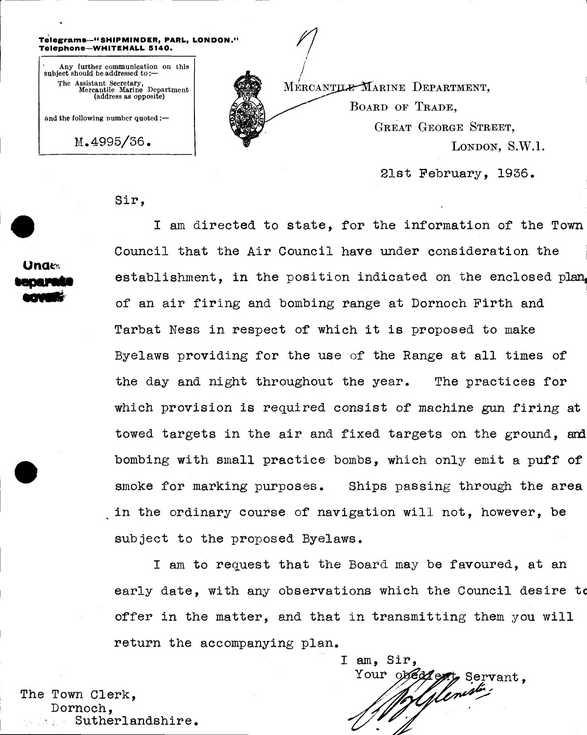 Burgh correspondence bombing range