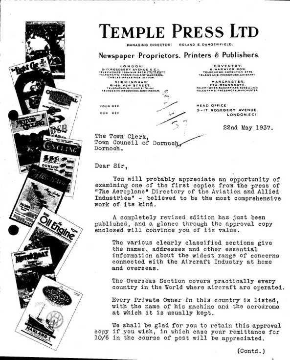 Burgh correspondence aerodrome directory