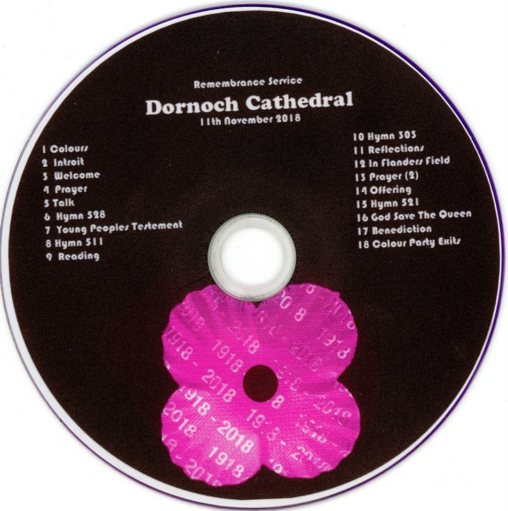 Recording of Dornoch Cathedral Armistice Day