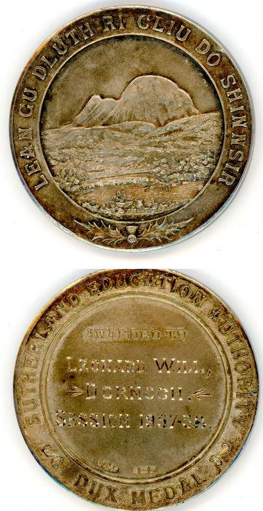 Dux medal Leonard D Will 1957/58