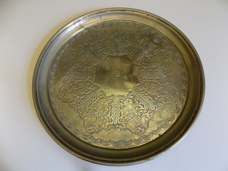 Silver tray from the Sutherland Arms Hotel