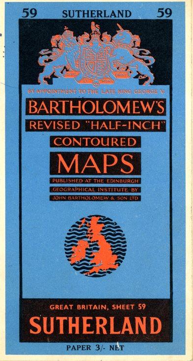 Bartholomews Map of Sutherland 59