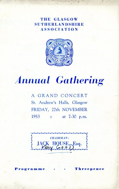 Annual Gathering  Programme 1953