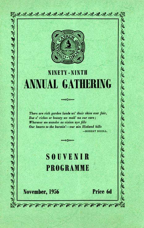 Annual Gathering  Programme 1956