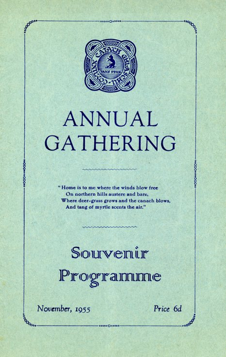 Annual Gathering  Programme 1955