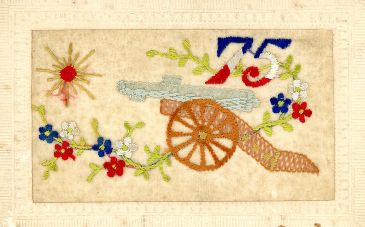 Silk embroidered postcard WW1