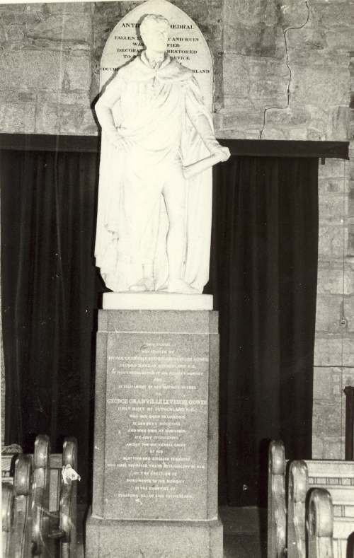 Statue of Duke of Sutherland in cathedral