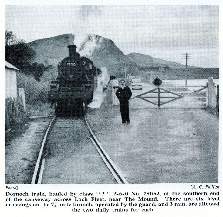 Dornoch train at The Mound crossing