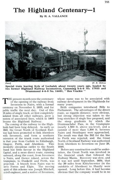 The Highland Centenary -1