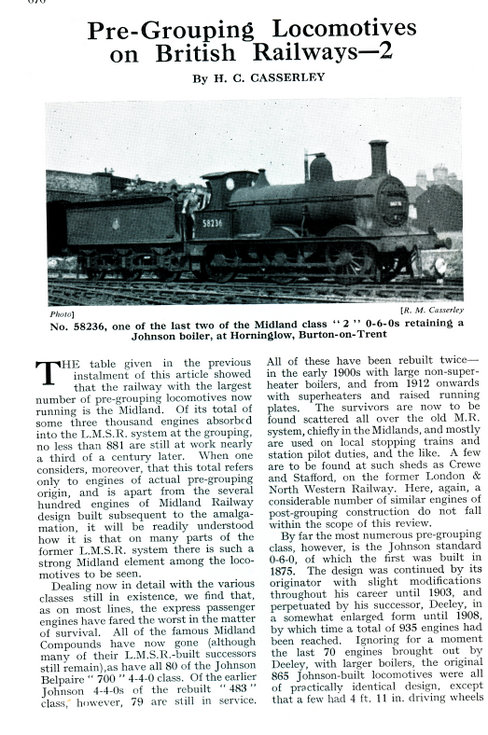 Pre-Grouping Locomotives on British Railways - 2