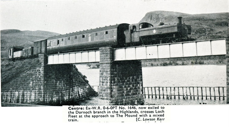 Train crossing The Mound bridge