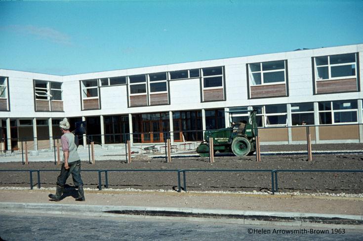 Construction of Dornoch Academy 1963