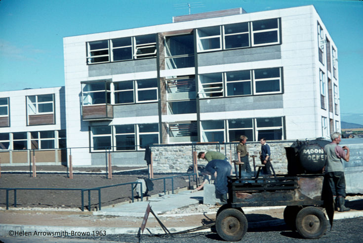 Construction team at Dornoch Academy 1963