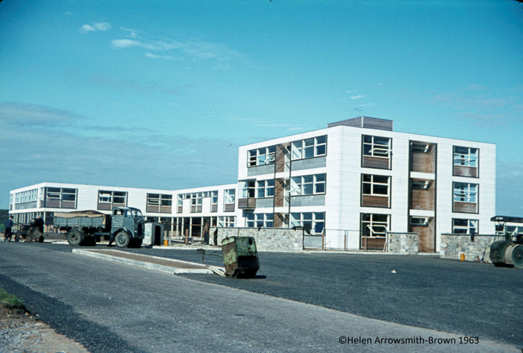 The new Dornoch Academy building 1963