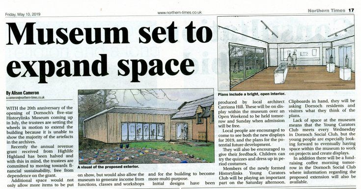 'Museum set to expand space' NT May 10th 2019