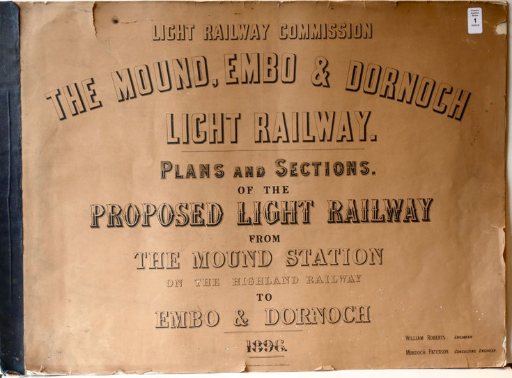 Plans & Sections for Dornoch Light Railway