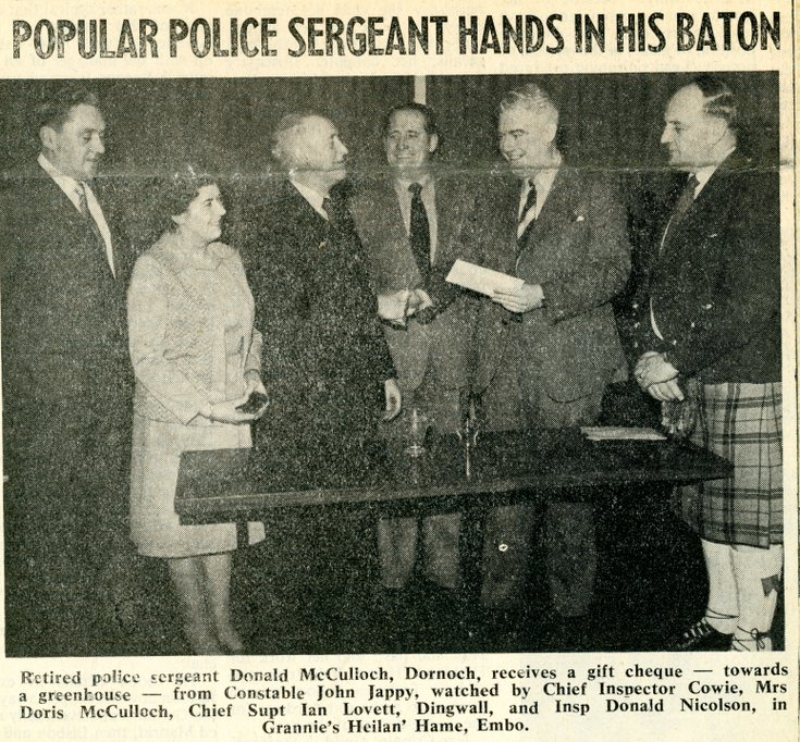 Popular Police Sergeant Hands in his Baton