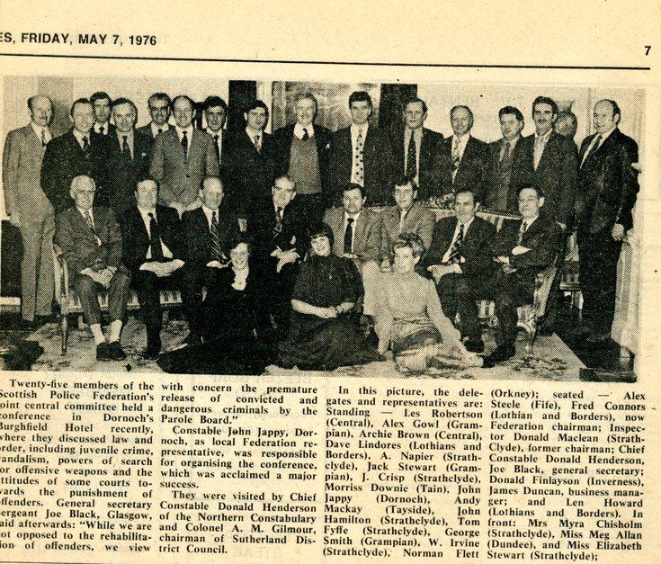 Police Federation gathering Burghfield Hotel 1976