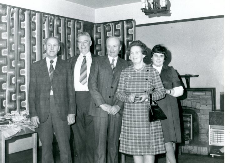 Group photograph including John Jappy