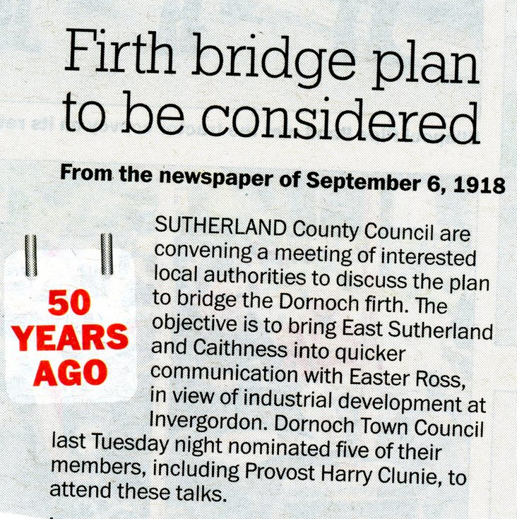 Firth bridge plan to be considered 1918