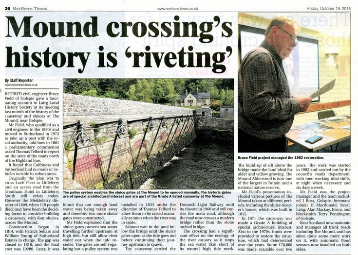Mound crossing's history is 'riveting'