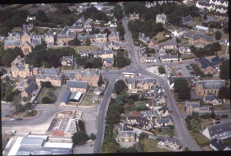 Aerial slides summer 2003 - Dornoch Town Centre