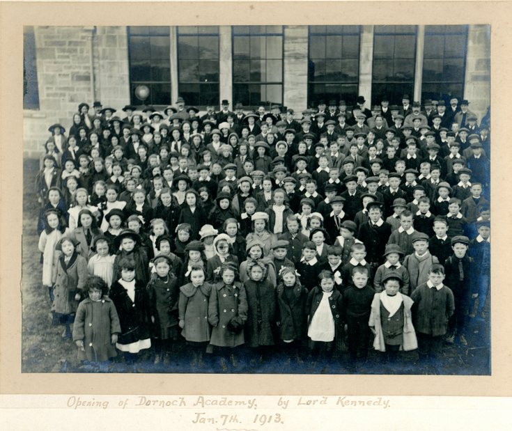 Opening of Dornoch Academy 7 Jan 1913