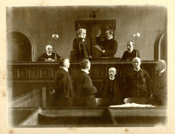 Swearing-in of Sheriff c 1900