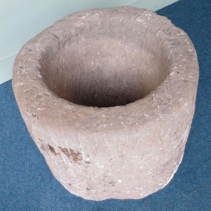 Large pot or pounder stone