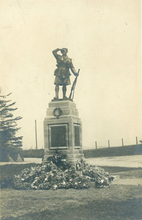 Dornoch War Memorial in its original location