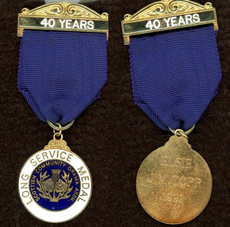 SCDA Medal Elsie J M Topp