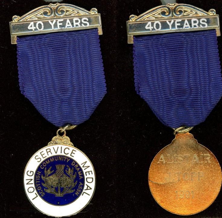 SCDA Medal Alistair J Topp