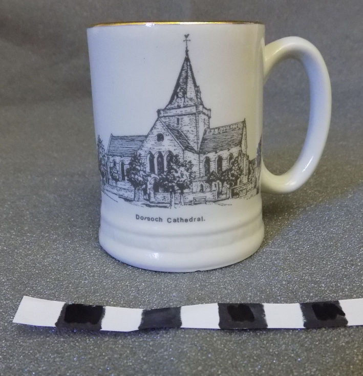 Small commemorative pottery mug
